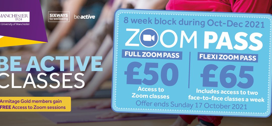 Get your Zoom live group exercise Pass